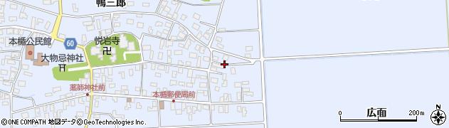 山形県酒田市本楯広面22周辺の地図