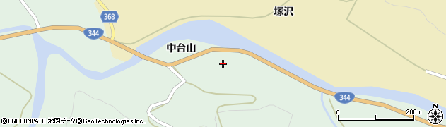 山形県酒田市上青沢中台周辺の地図