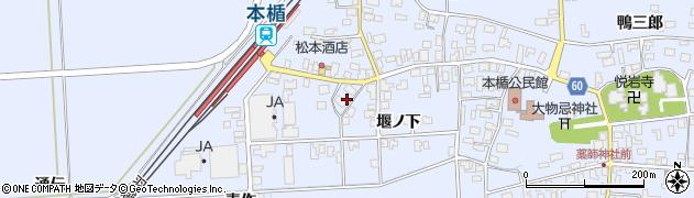 山形県酒田市本楯通伝5周辺の地図