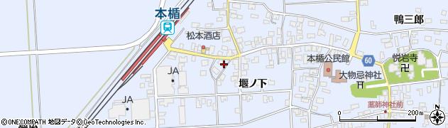 山形県酒田市本楯通伝4周辺の地図