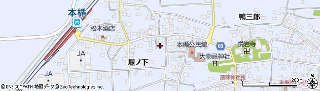 山形県酒田市本楯堰ノ下10周辺の地図