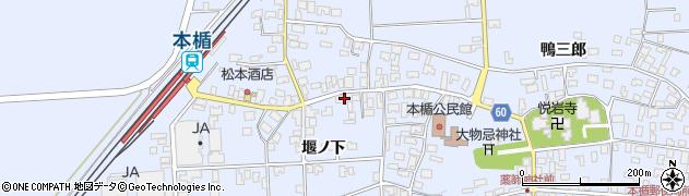 山形県酒田市本楯堰ノ下15周辺の地図