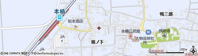 山形県酒田市本楯堰ノ下16周辺の地図