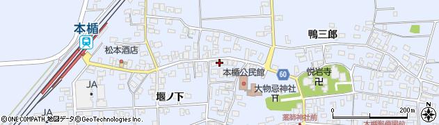 山形県酒田市本楯新田目109周辺の地図