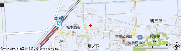 山形県酒田市本楯新田目130周辺の地図