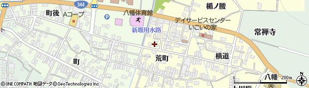 山形県酒田市麓荒町64周辺の地図