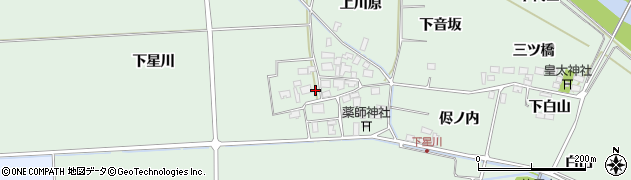 山形県酒田市大豊田下星川36周辺の地図