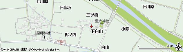 山形県酒田市大豊田侭ノ内2周辺の地図