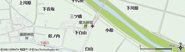 山形県酒田市大豊田三ツ橋17周辺の地図