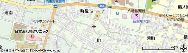 山形県酒田市観音寺町後82周辺の地図