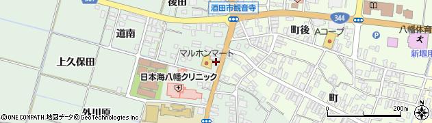 山形県酒田市小泉前田23周辺の地図