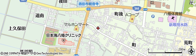 山形県酒田市観音寺町102周辺の地図