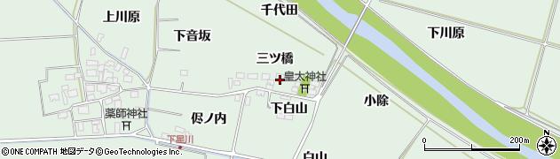 山形県酒田市大豊田三ツ橋24周辺の地図