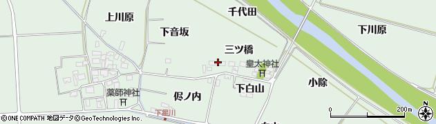 山形県酒田市大豊田三ツ橋27周辺の地図