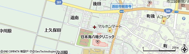 山形県酒田市小泉前田32周辺の地図