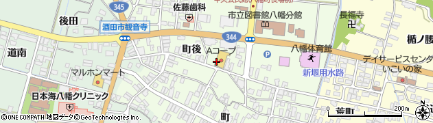 山形県酒田市観音寺町後22周辺の地図