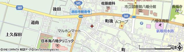 山形県酒田市観音寺町後45周辺の地図