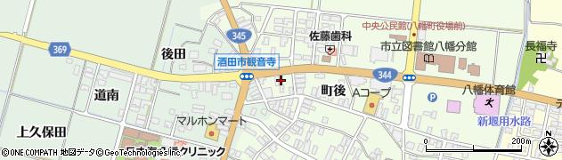 山形県酒田市観音寺町後33周辺の地図