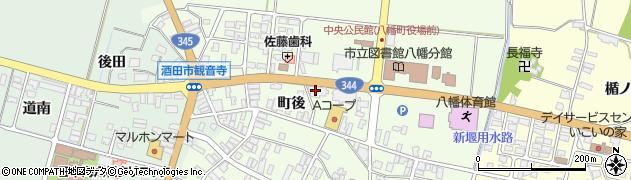 山形県酒田市観音寺町後40周辺の地図
