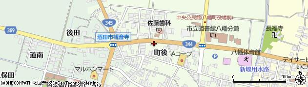 山形県酒田市観音寺町後44周辺の地図