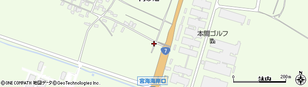 山形県酒田市宮海中砂畑66周辺の地図