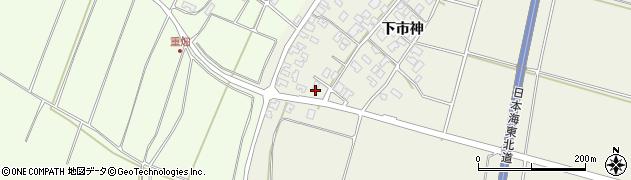 山形県酒田市穂積下市神178周辺の地図