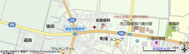 山形県酒田市観音寺町後周辺の地図