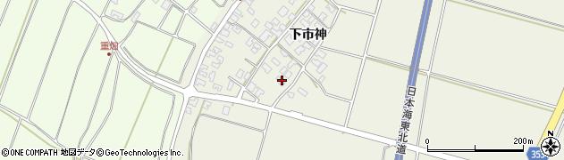 山形県酒田市穂積下市神76周辺の地図