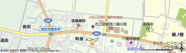 山形県酒田市観音寺前田23周辺の地図
