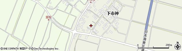山形県酒田市穂積下市神105周辺の地図
