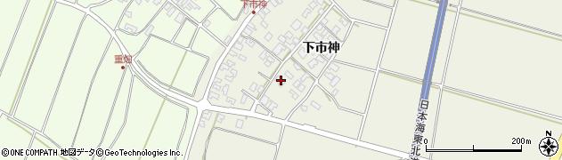 山形県酒田市穂積下市神77周辺の地図