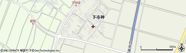 山形県酒田市穂積下市神72周辺の地図