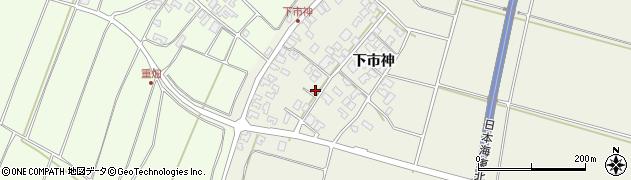 山形県酒田市穂積下市神102周辺の地図