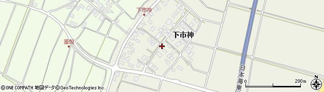 山形県酒田市穂積下市神周辺の地図