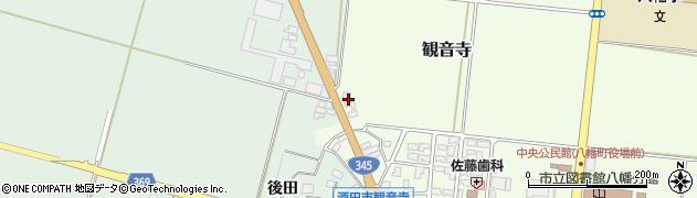 山形県酒田市観音寺町後3周辺の地図