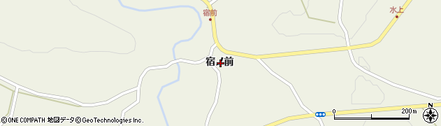 岩手県一関市舞川宿ノ前周辺の地図