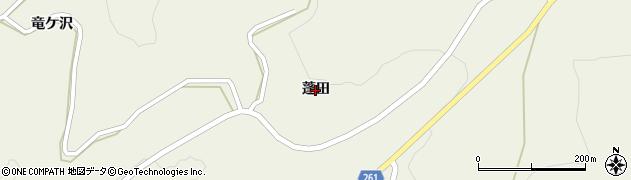 岩手県一関市舞川(蓬田)周辺の地図