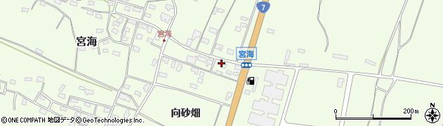 山形県酒田市宮海周辺の地図