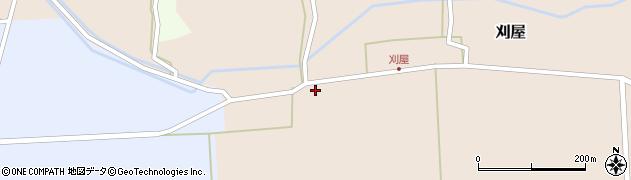 山形県酒田市刈屋堂ノ前17周辺の地図