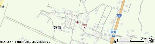 山形県酒田市宮海砂飛155周辺の地図