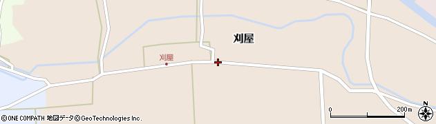 山形県酒田市刈屋中川3周辺の地図