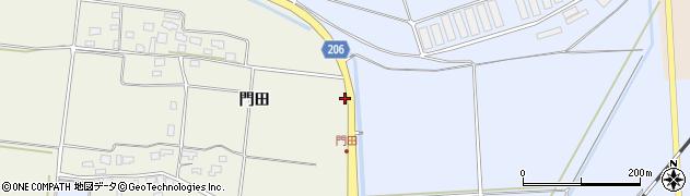 山形県酒田市本楯向田周辺の地図