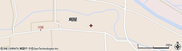 山形県酒田市刈屋東村33周辺の地図