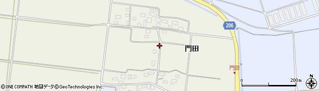 山形県酒田市穂積門田203周辺の地図