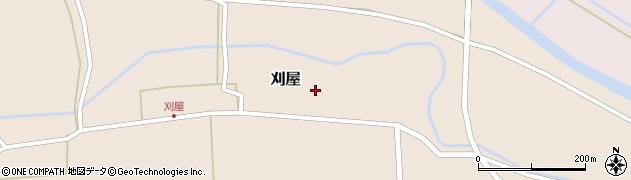 山形県酒田市刈屋東村57周辺の地図