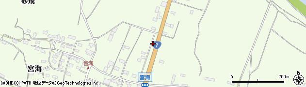山形県酒田市宮海村東125周辺の地図