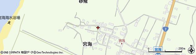 山形県酒田市宮海砂飛148周辺の地図