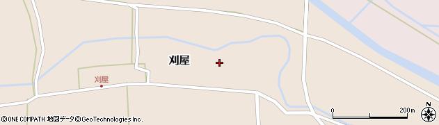 山形県酒田市刈屋東村32周辺の地図