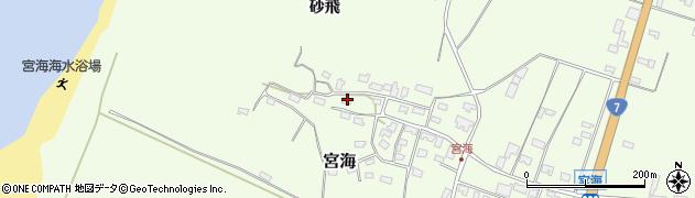 山形県酒田市宮海砂飛147周辺の地図