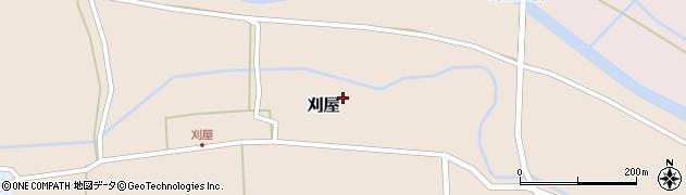 山形県酒田市刈屋東村59周辺の地図